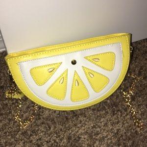 Handbags - Lemon Bag With Gold Chain